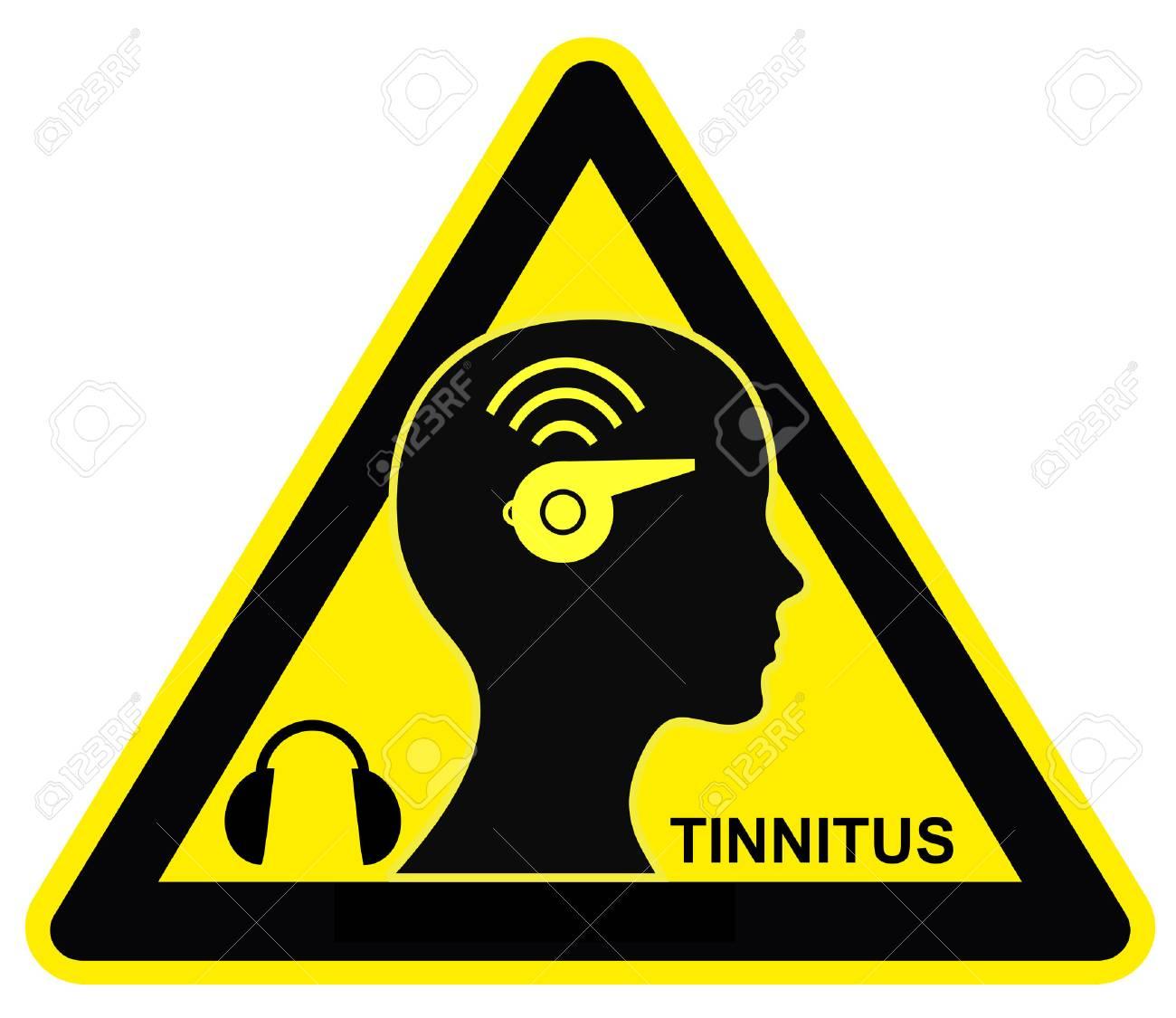 Attention acouphènes. Porter des protecteurs d'oreilles pour éviter le  bourdonnement gênant et la sonnerie de l'acouphène