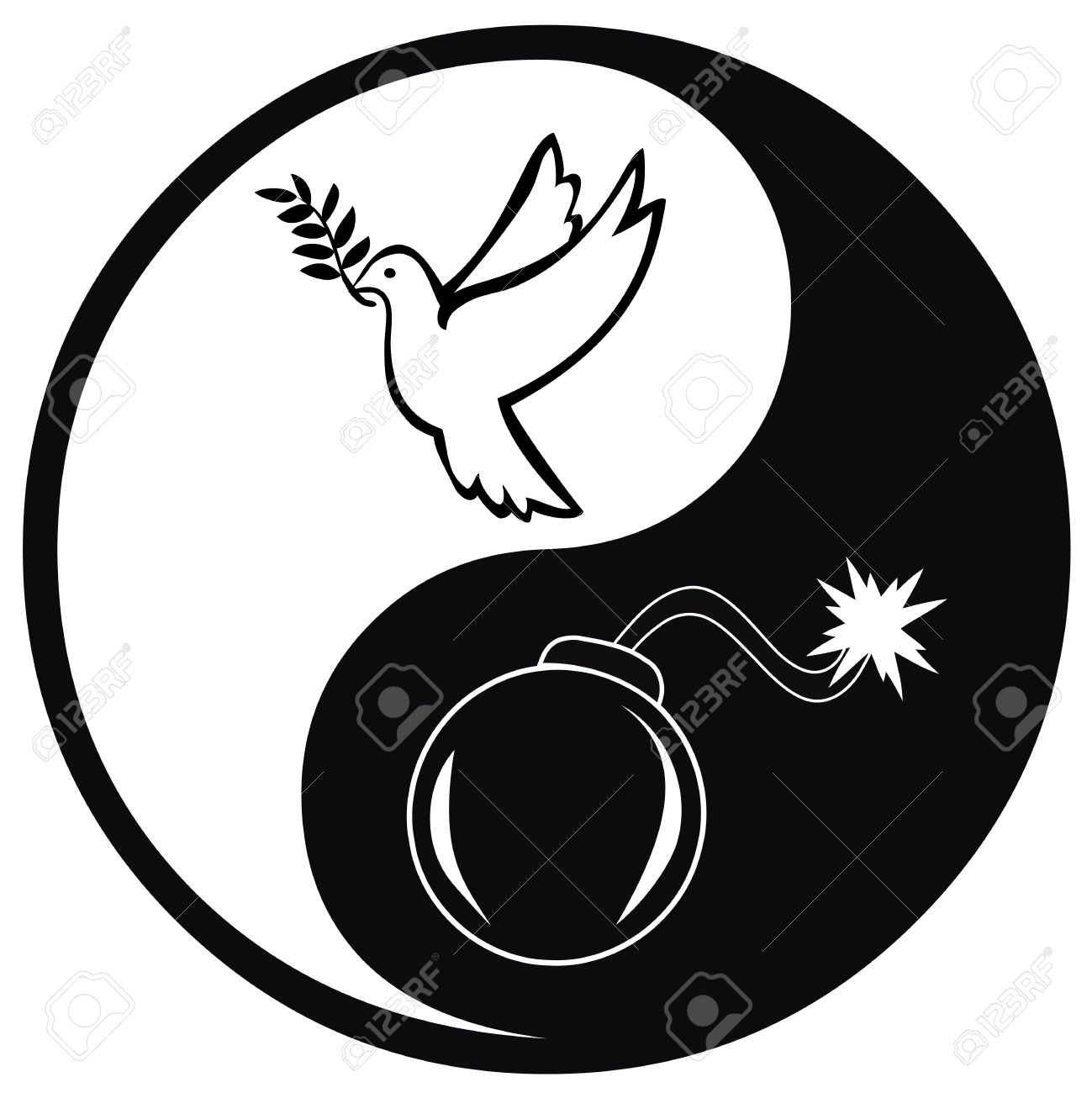 Peace and war symbol and concept sign for pacifism versus warfare peace and war symbol and concept sign for pacifism versus warfare stock photo 63834528 biocorpaavc Images