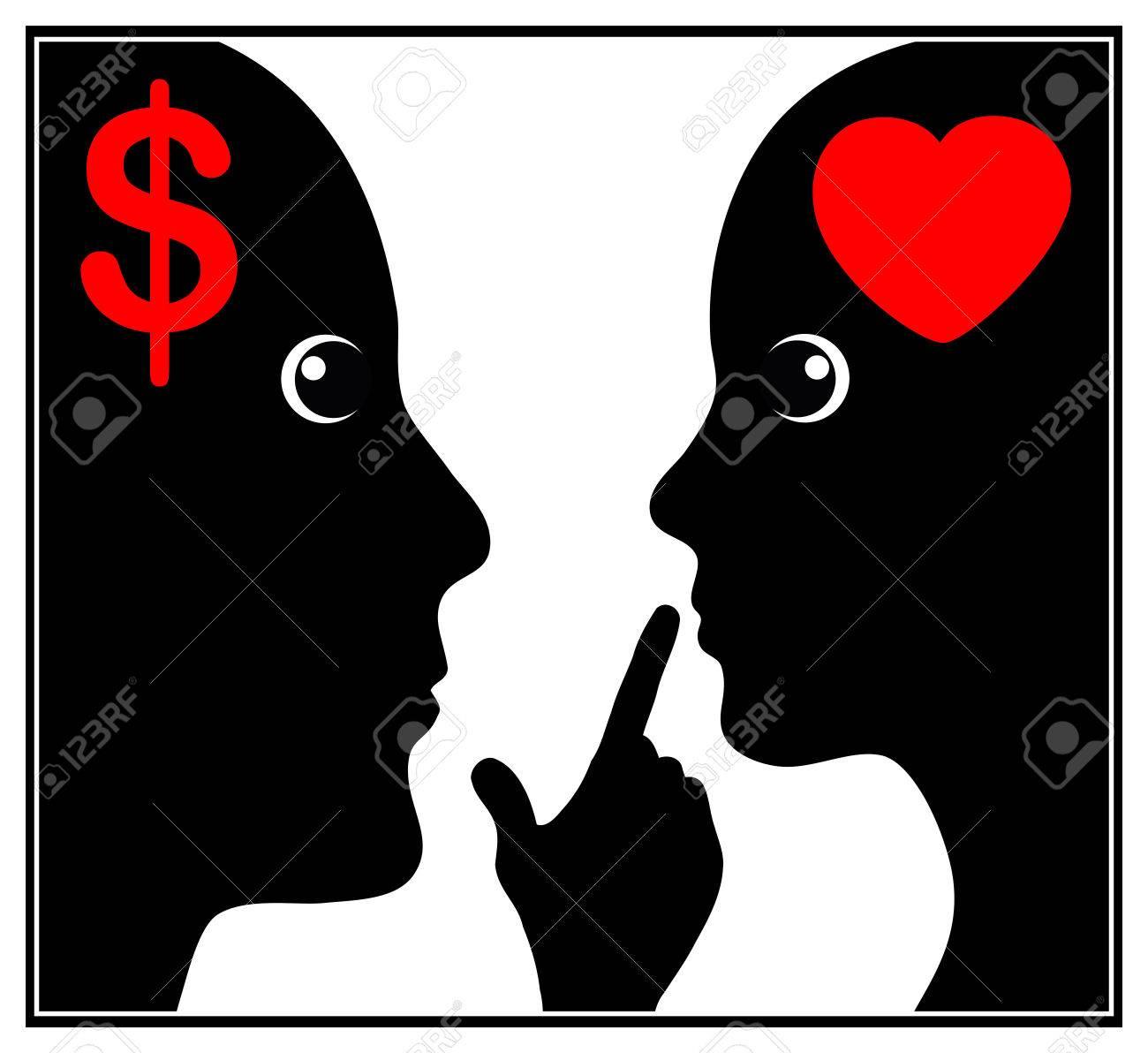 Secret Sex For Money Concept Sign Of A Tacit Agreement For Sex