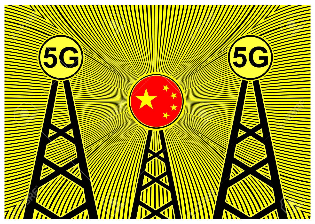5G technology from China. The future of wireless networks around the world - 128543438