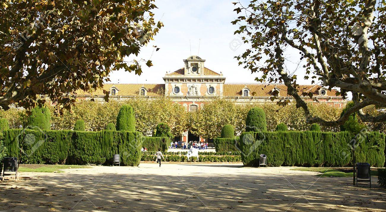 Gardens opposite to the Catalan Parliament Stock Photo - 13755593