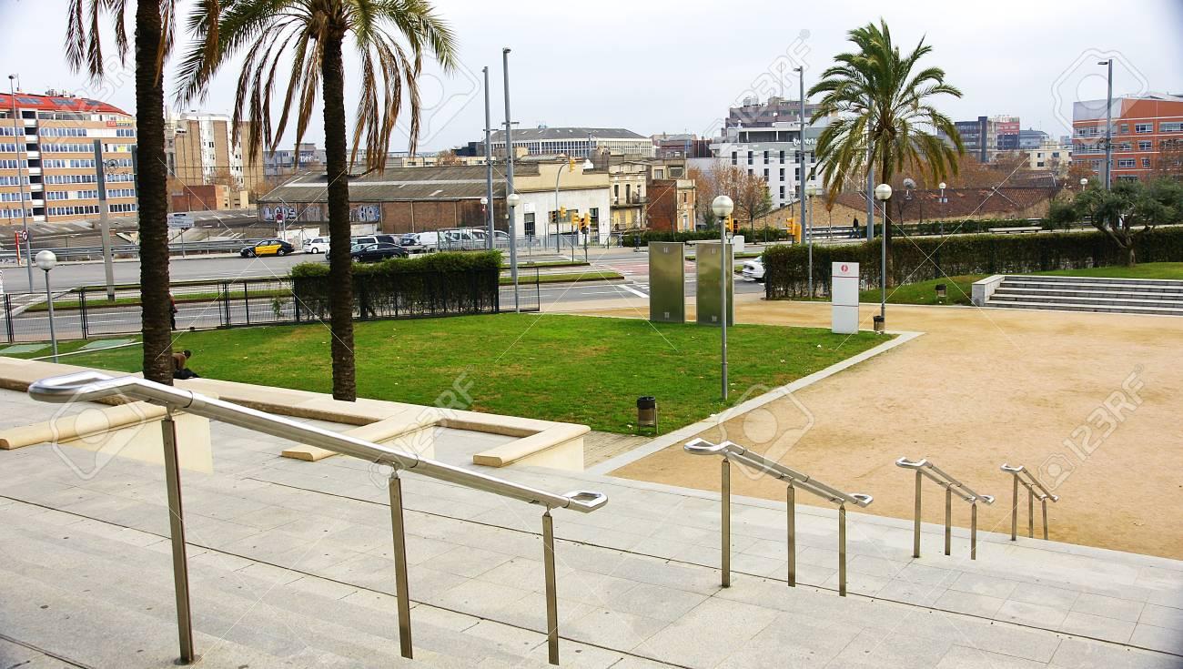 Steps and gardens of the Teatre Nacional de Catalunya, Barcelona Stock Photo - 17202467