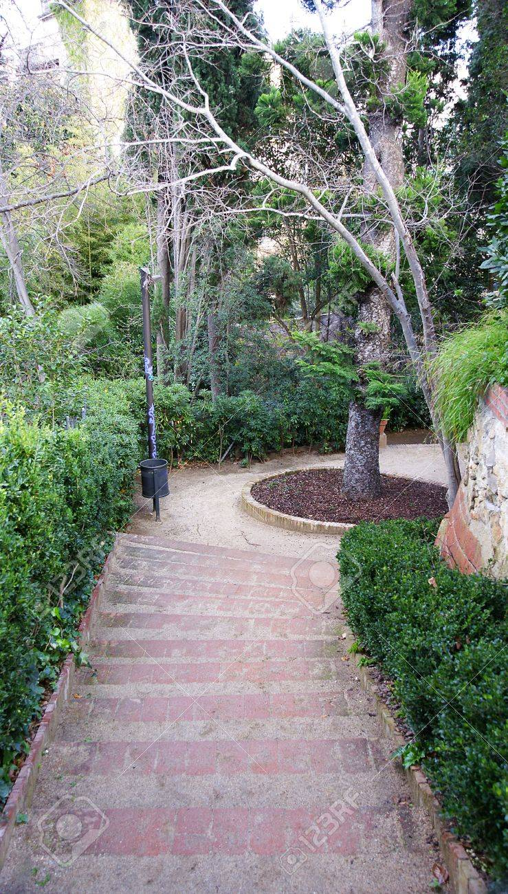 Gardens of The Tamarita in Barcelona Stock Photo - 17766905