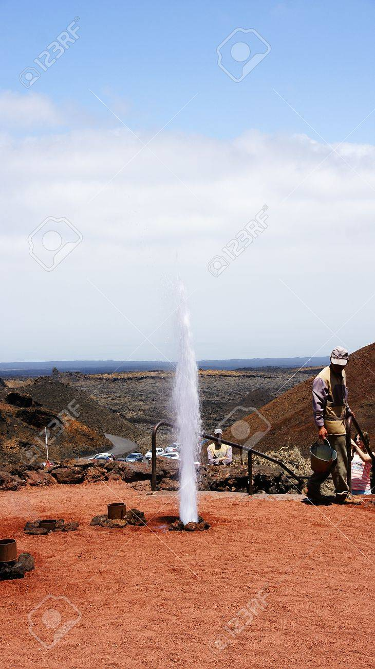 Shows Timanfaya Park in Lanzarote, Canary Islands Stock Photo - 21913008