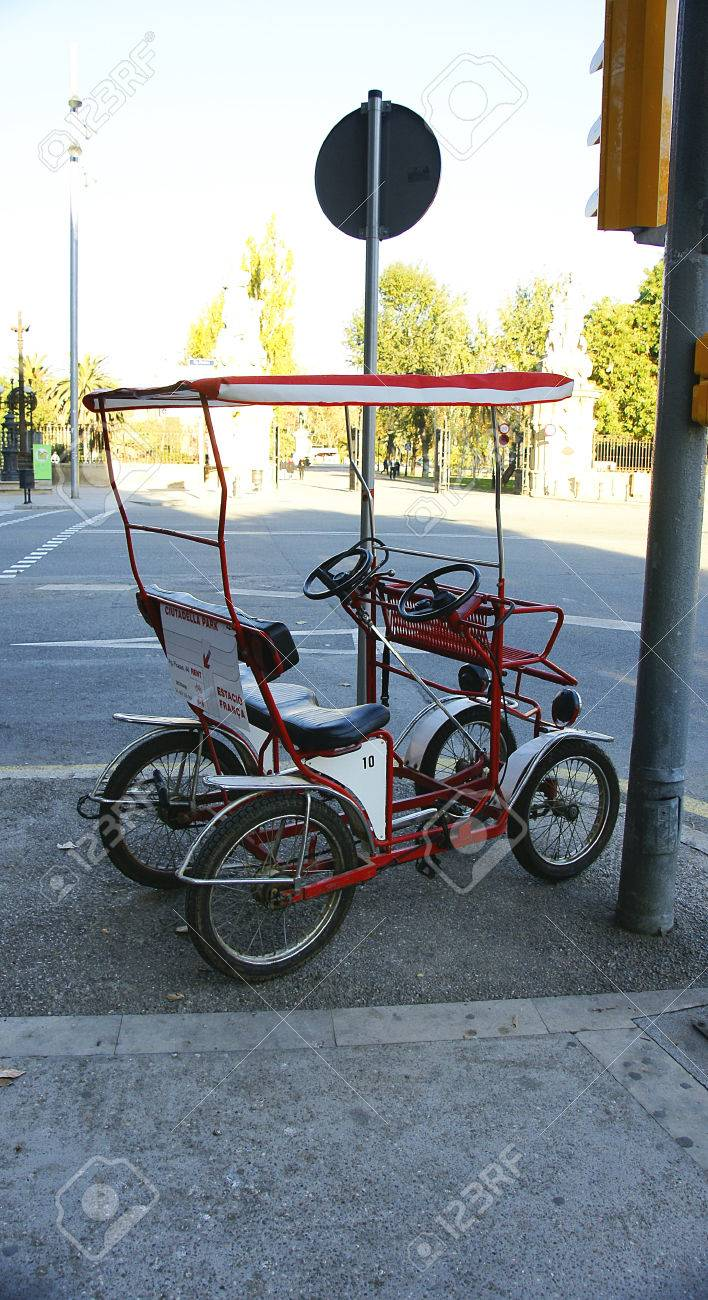 Pedal Car Rental For Tourists In Barcelona