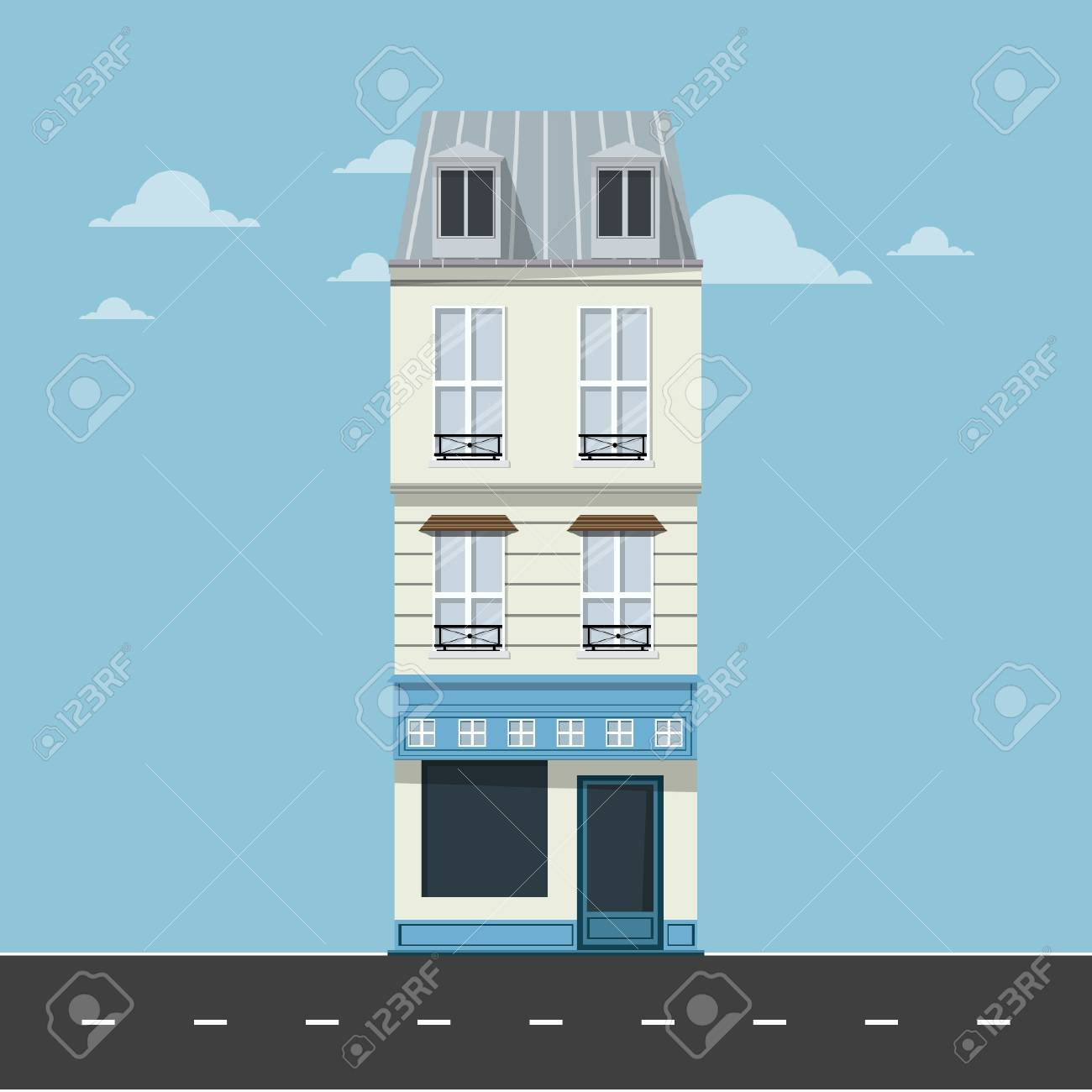 Apartment - Minimal Building Vector - 110619482