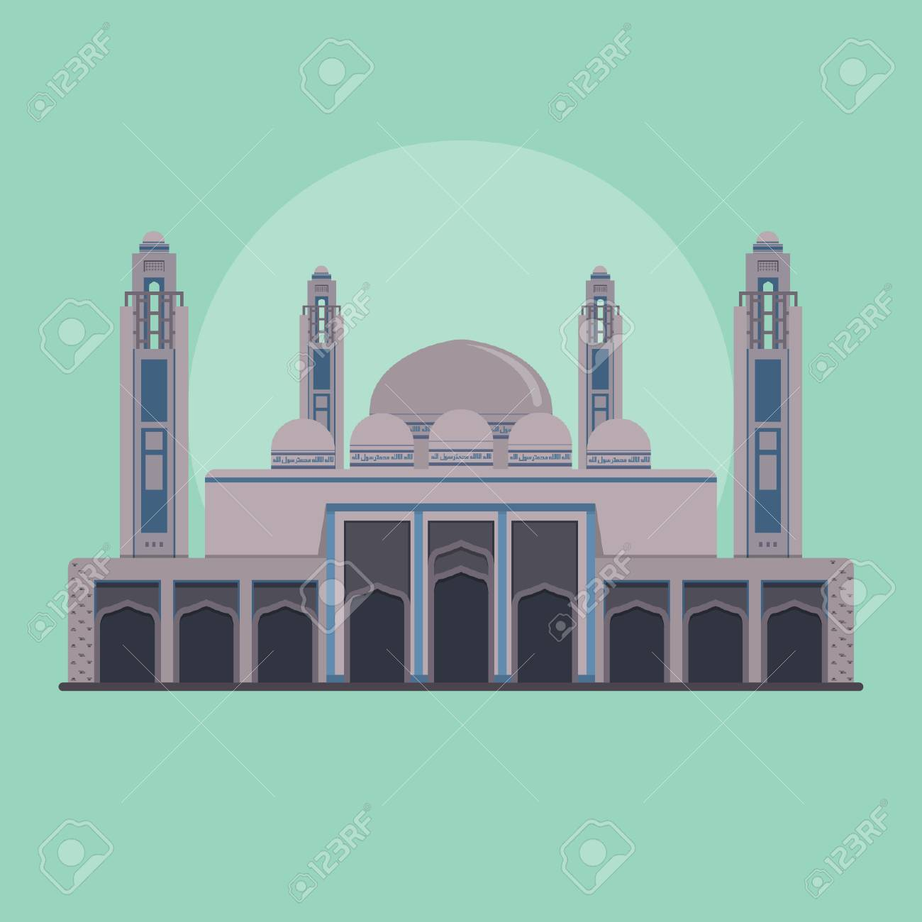 Bahria Town Mosque - Vector Design - 110619483