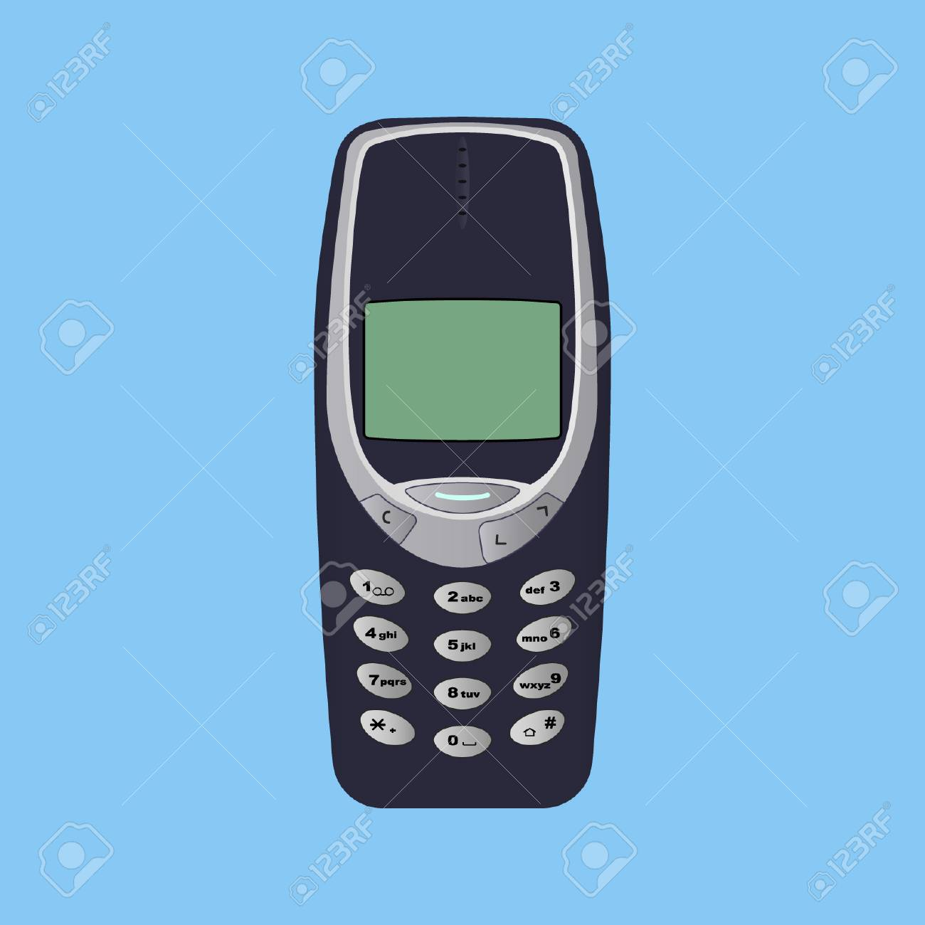 Old Mobile Phone - Vector Design - 110619541