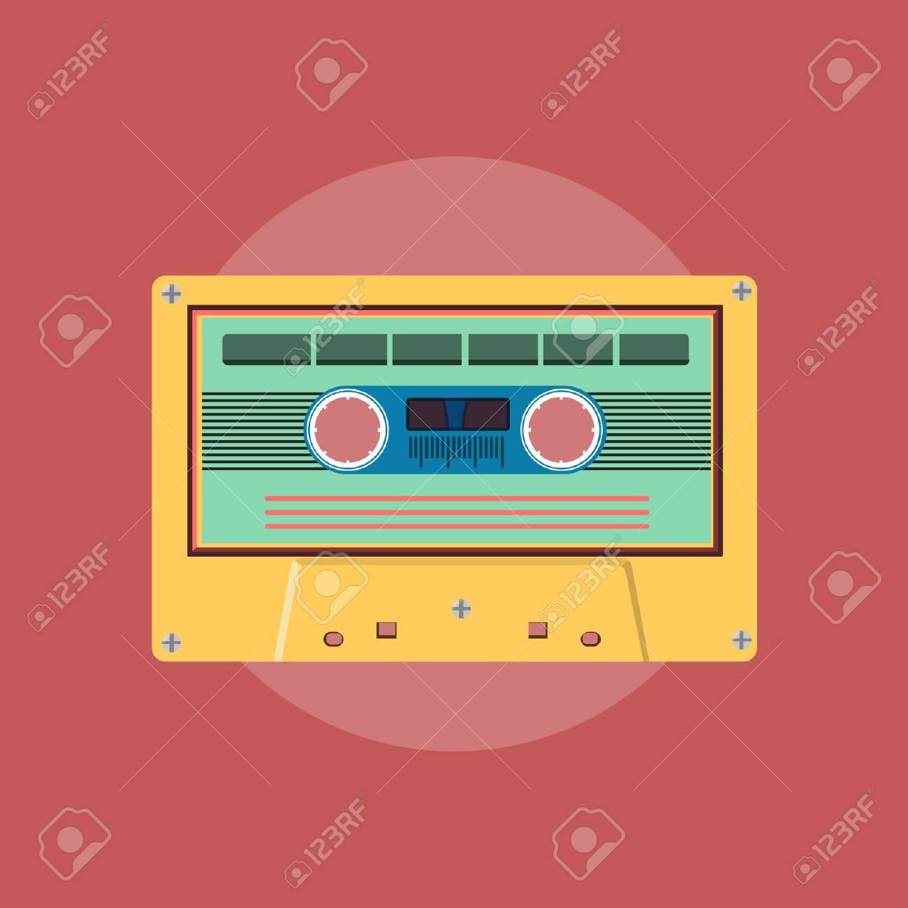 Retro Cassette - Vector Design - 110619545