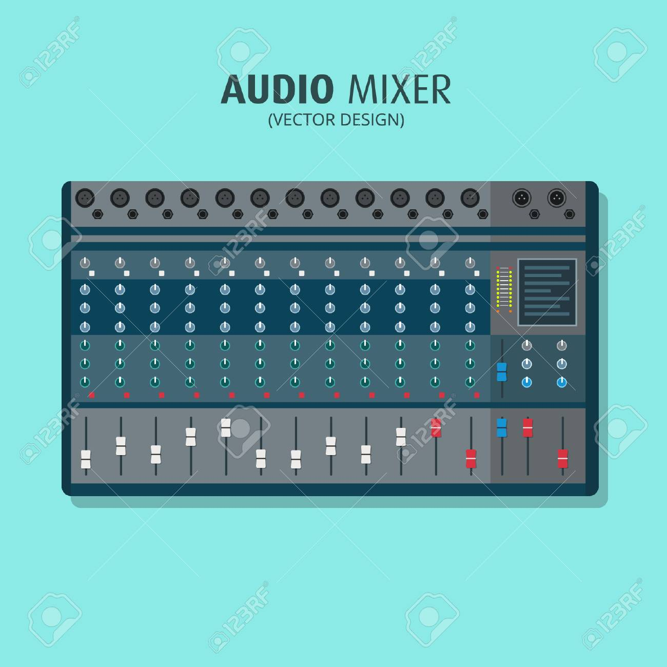 Audio Mixer - Vector Design - 110619549