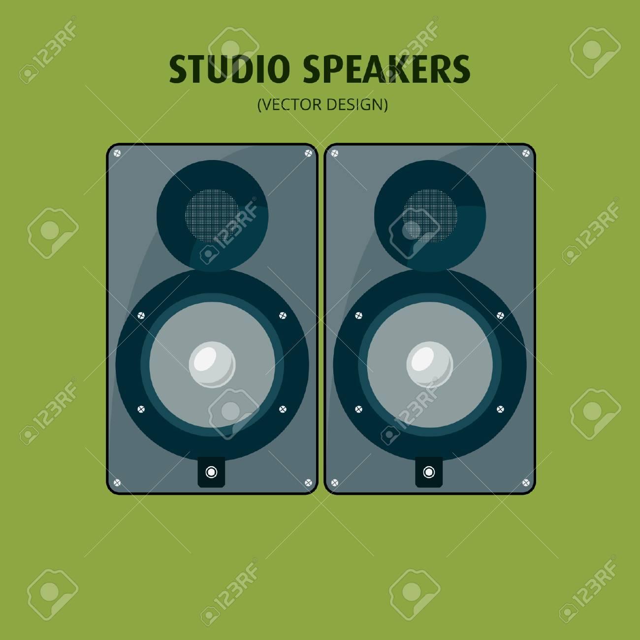 Studio Speakers - Vector Design - 110619556