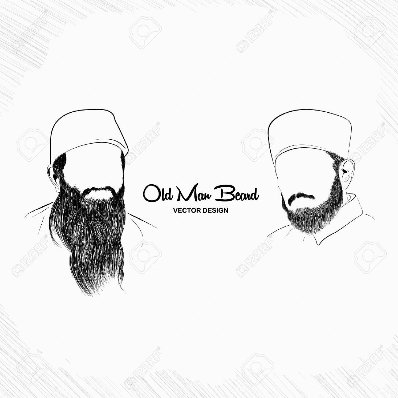 Old Man Beard - Vector Design - 110619565