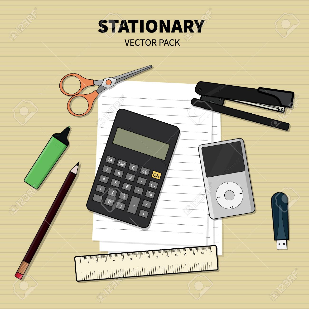 Stationary Box - Vector Pack - 110628681