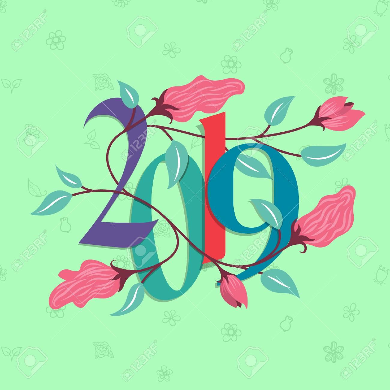 New Year 2019 - Vector Design - 110628689