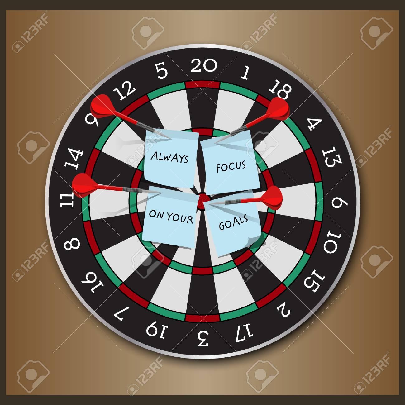 Dart Board - Vector Design - 110628692
