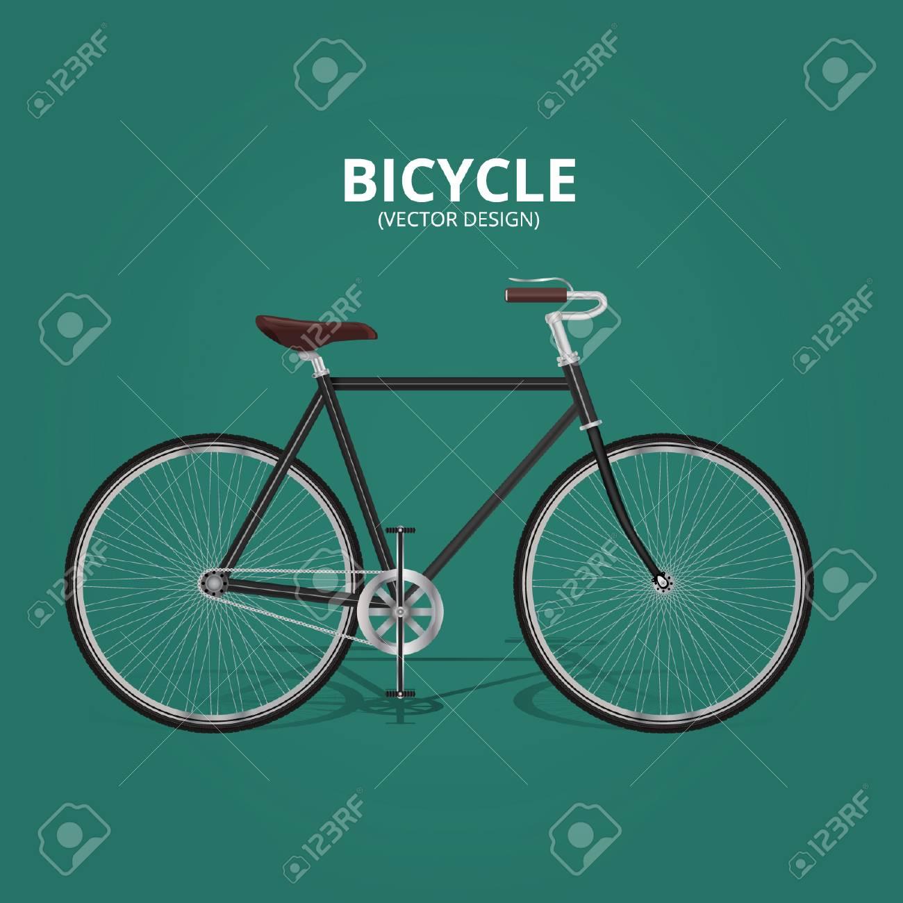 Bicycle - Realistic Vector Design - 110628694