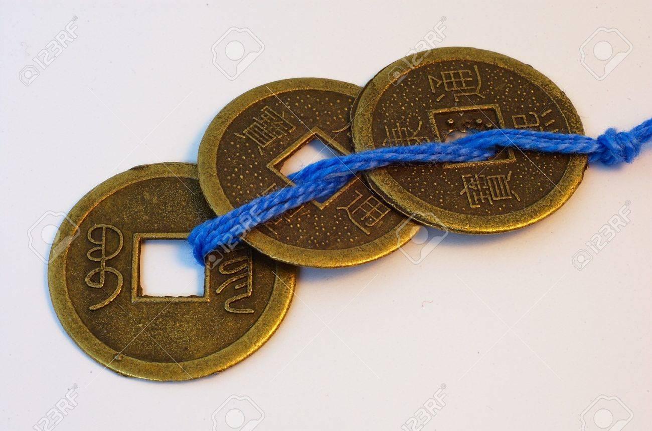 Repliken Der Drei Traditionellen Chinesischen Kaiserlichen Münzen