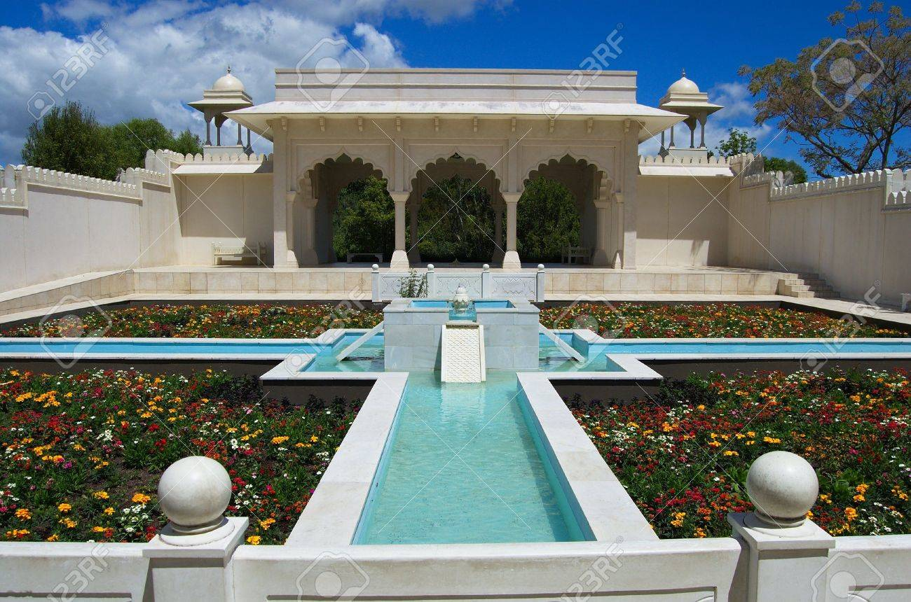 Water fountains outdoor new zealand - Main Area Of Indian Char Bagh Garden With A Fountain Paradise Garden Collection Hamilton