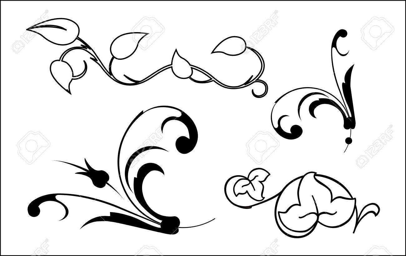 floral elements Stock Vector - 5657291