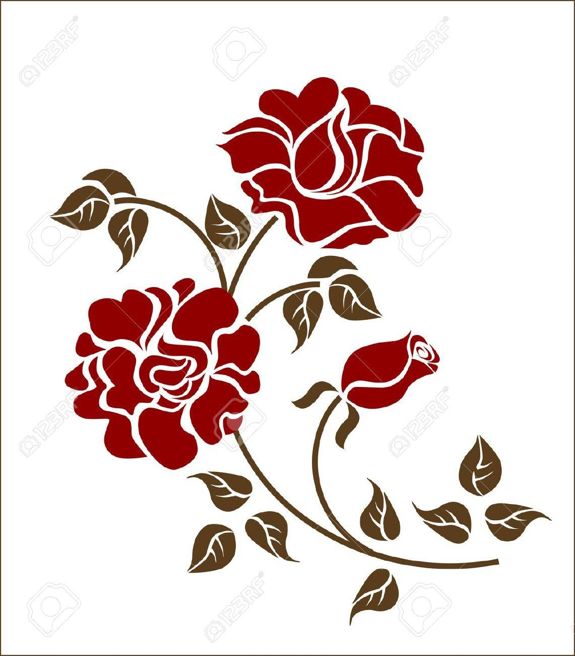 red roses on the white backgroud. Please check my portfolio for more versions Stock Vector - 5874074