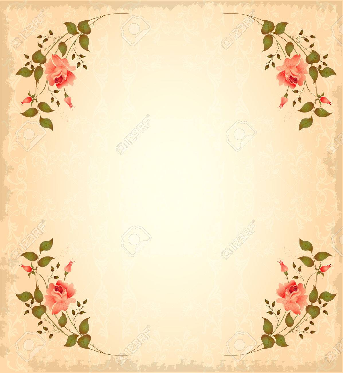 vintage greeting card Stock Vector - 6219361