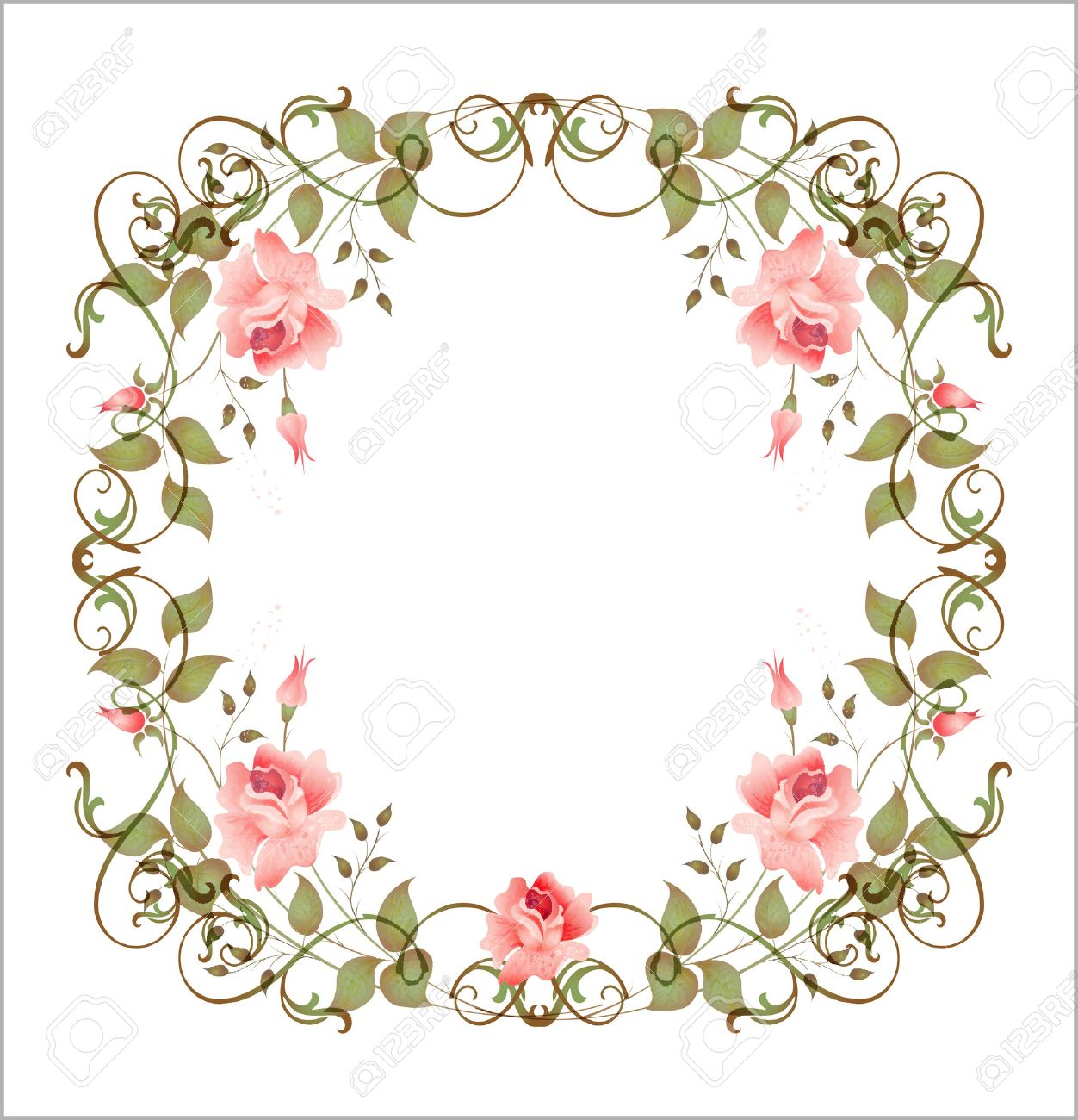 Vintage Floral Frame Royalty Free Cliparts Vectors And Stock