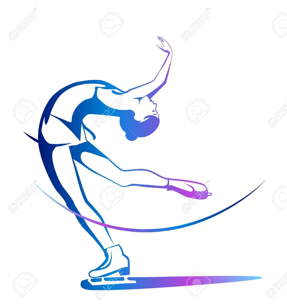 Figures libres de Michèle de Fillain 10624018-Sports-d-hiver-Mesdames-patinage-artistique-Spectacle-sur-glace--Banque-d'images