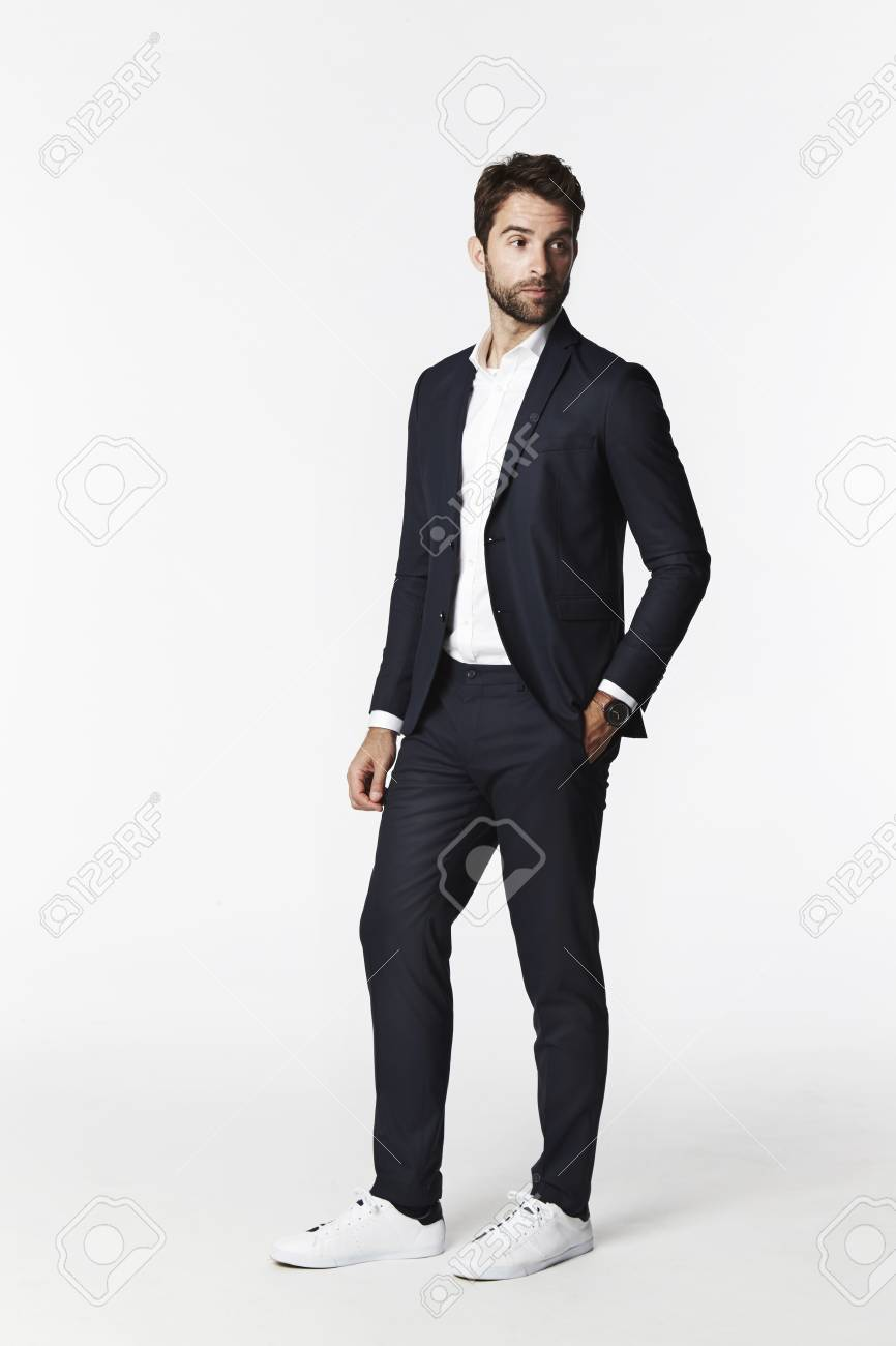 Business Guy In Suit Looking Away Stock Picture And Royalty