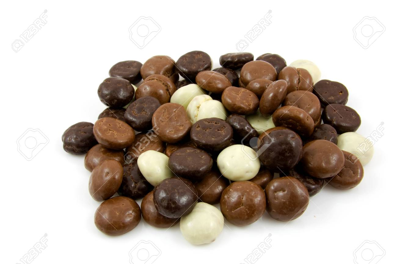 chocolate gingernuts, pepernoten,over white background. Tyical Dutch candy for 5 december. Stock Photo - 5823845