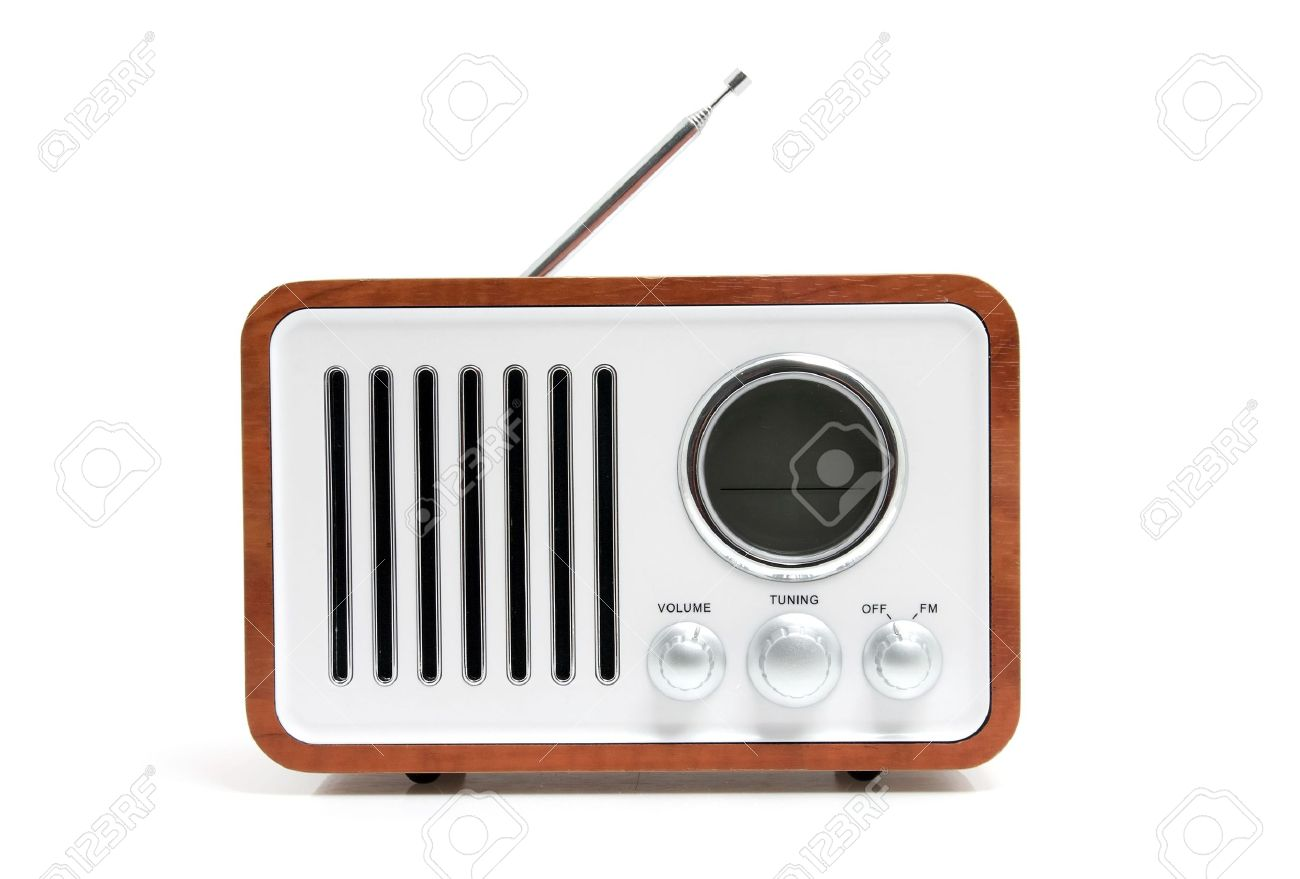 Old fashioned radio images