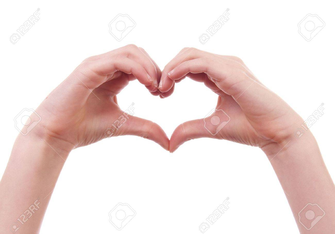 Uncategorized Hands In A Heart kids hands in shape of heart over white background stock photo 6676865
