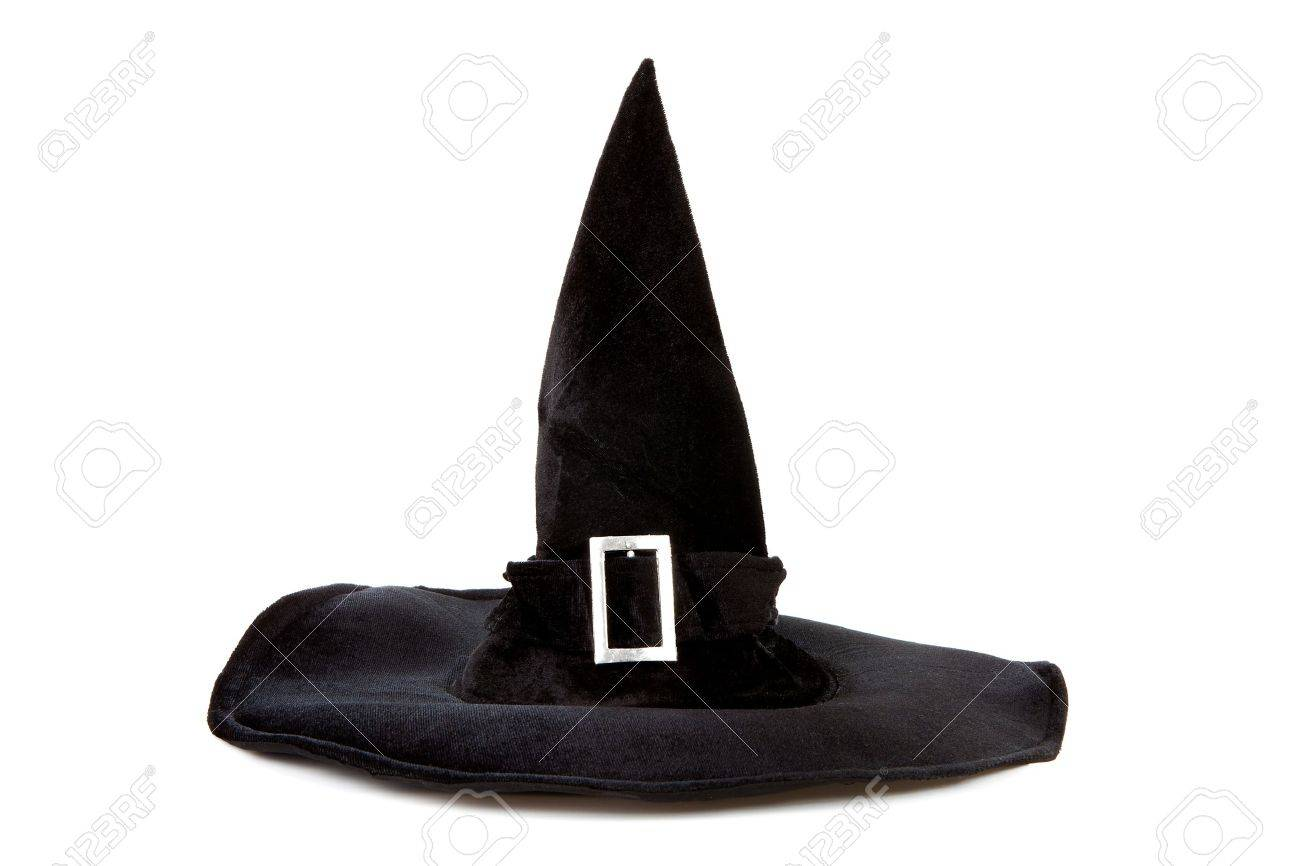 Black fabric witch hat for Halloween isolated on white background Stock Photo - 11040527