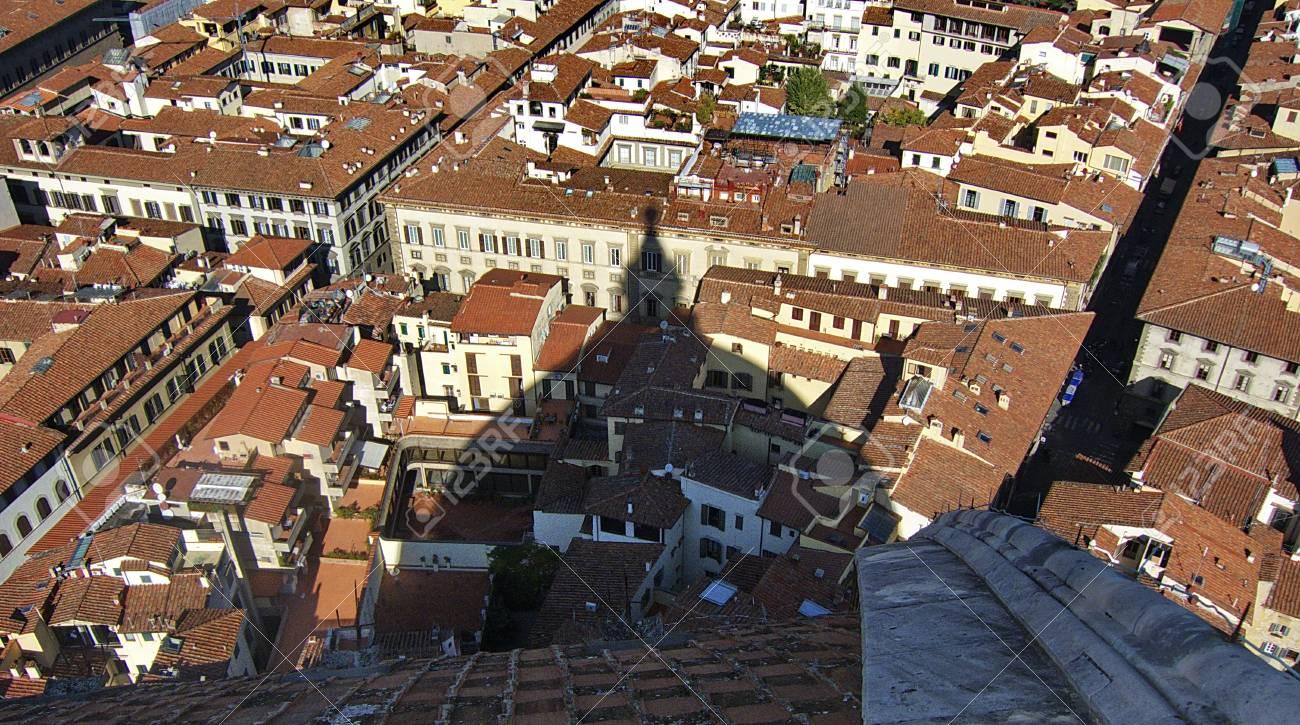 Vista Dalle Terrazze Della Cattedrale Del Centro Della Città Di Firenze Italia
