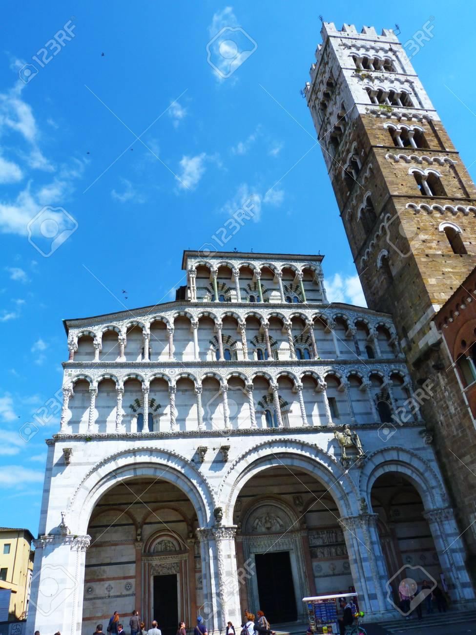 Kathedraal Van Lucca.Kathedraal Van Lucca Toscane Italie