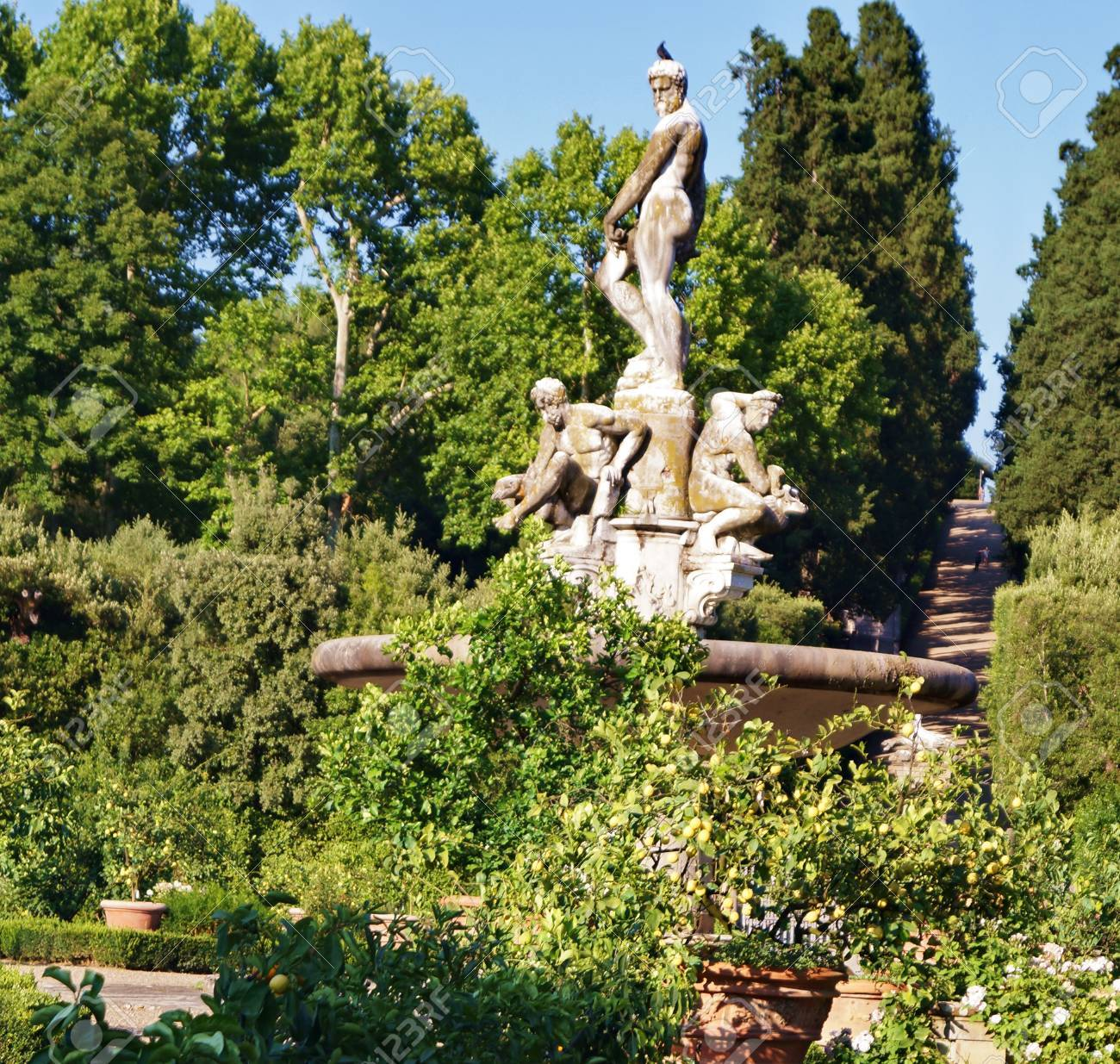 Fountain Of The Ocean In The Boboli Gardens Florence Tuscany