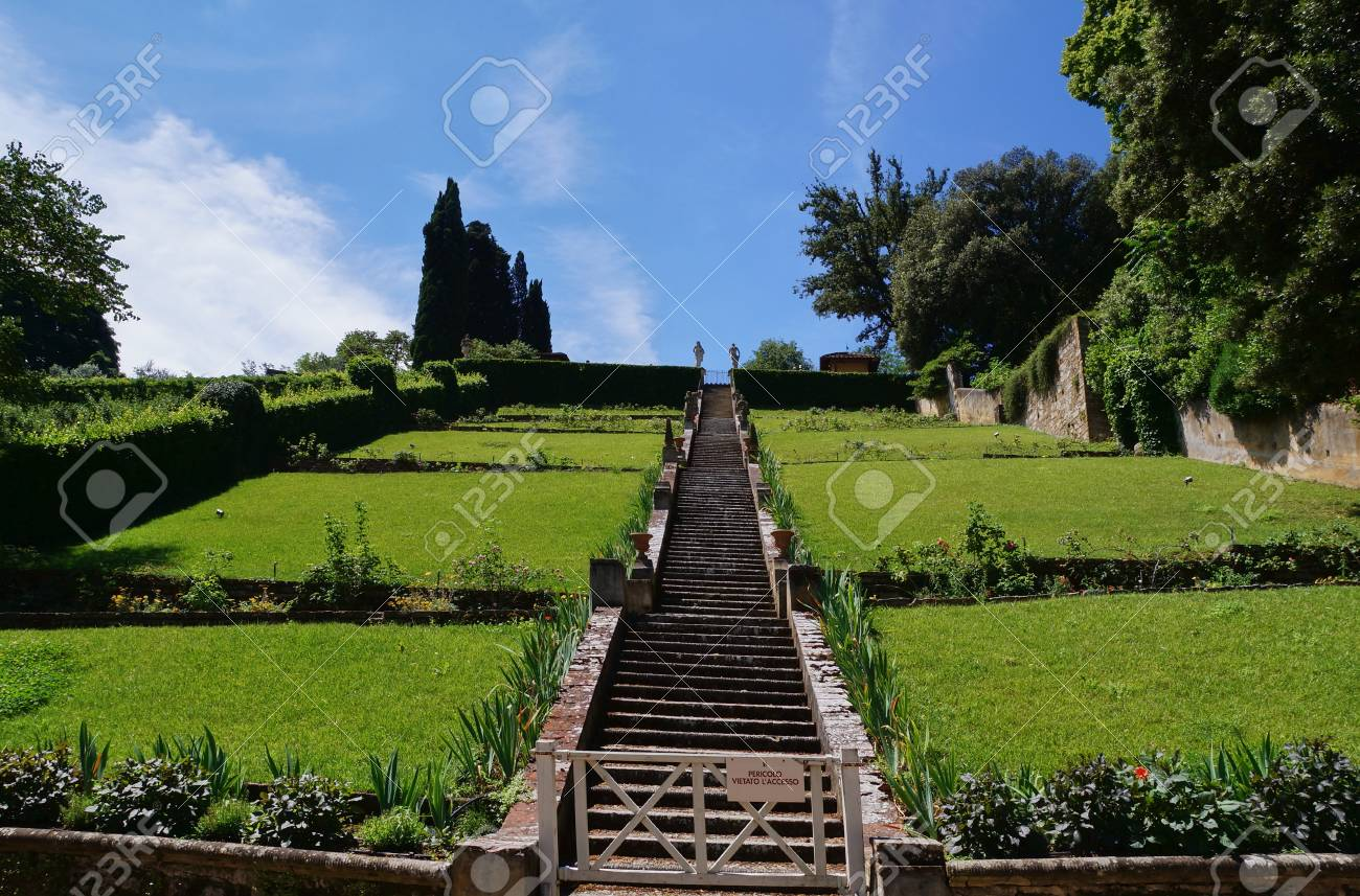 Staircase In Bardini Garden Florence Italy Stock Photo Picture