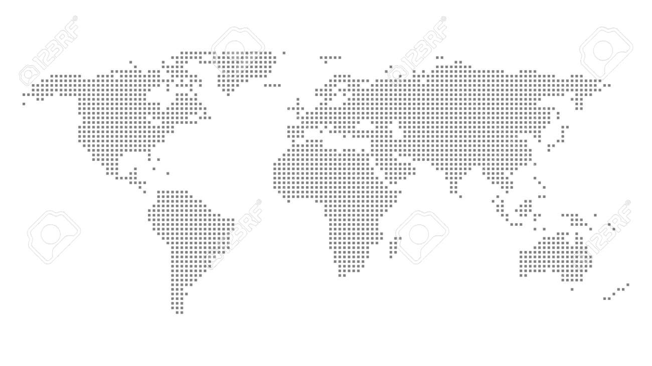 World map outline vector of provinces or states - 168500226