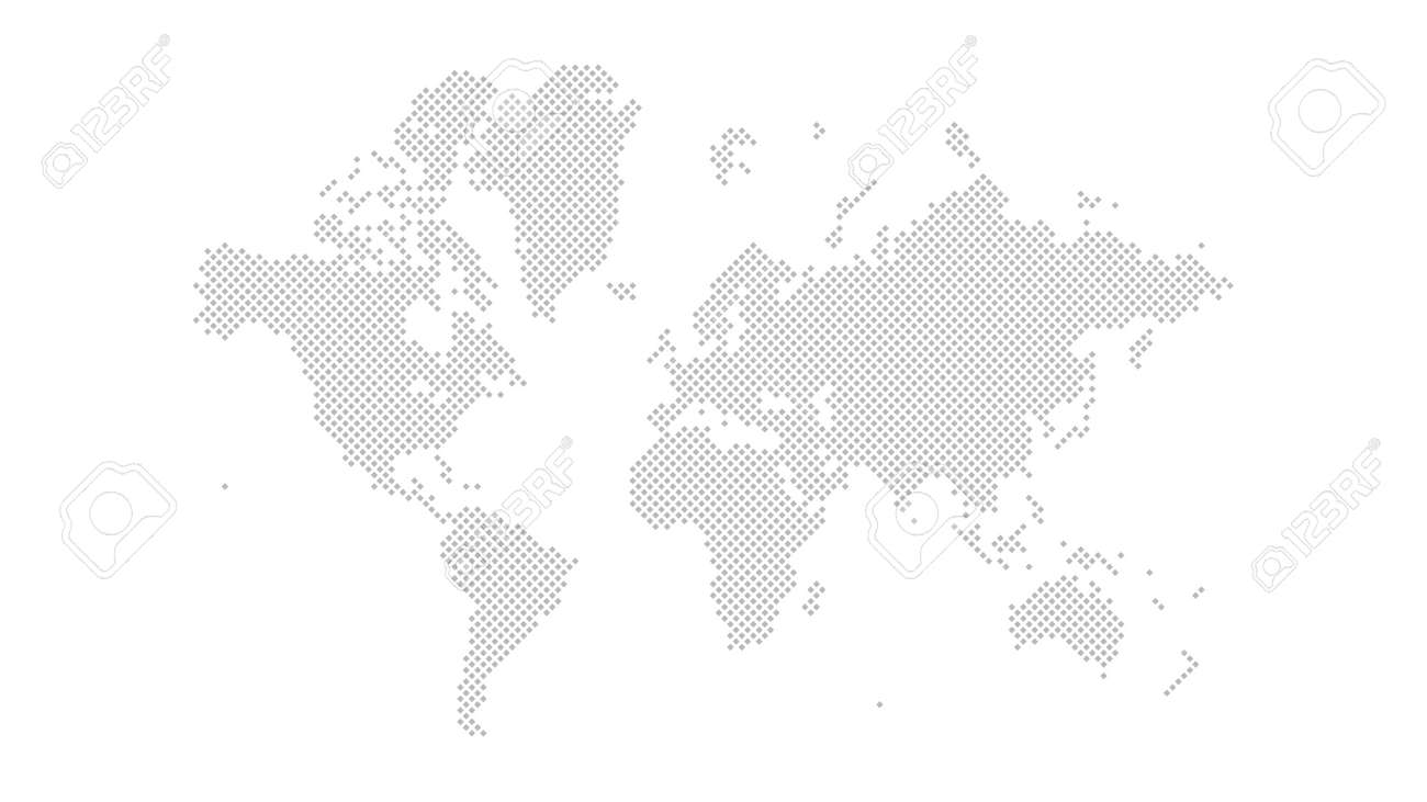 World map outline vector of provinces or states - 168500380