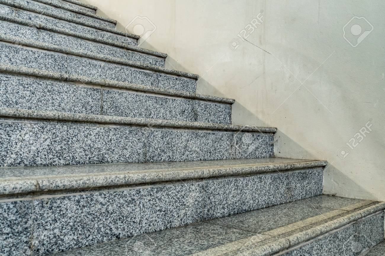 Perspective Of Gray Granite Staircase Stock Photo Picture And Royalty Free Image Image 64308944