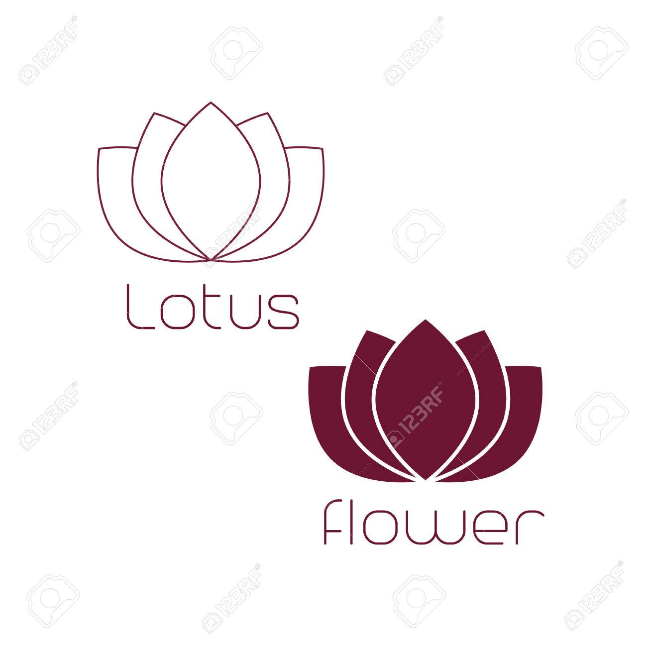 Lotus Logo,Lotus Flower Logo,Beauty Logo,Fashion Logo,Vector ...