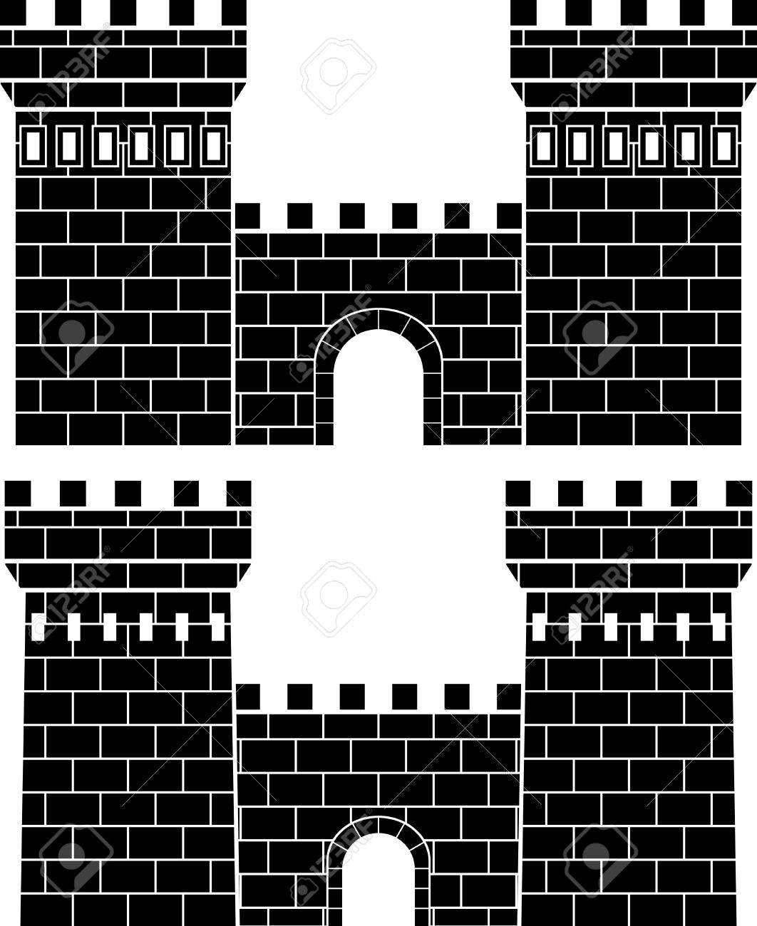 Two Gates. Stencil Royalty Free Cliparts, Vectors, And Stock ...