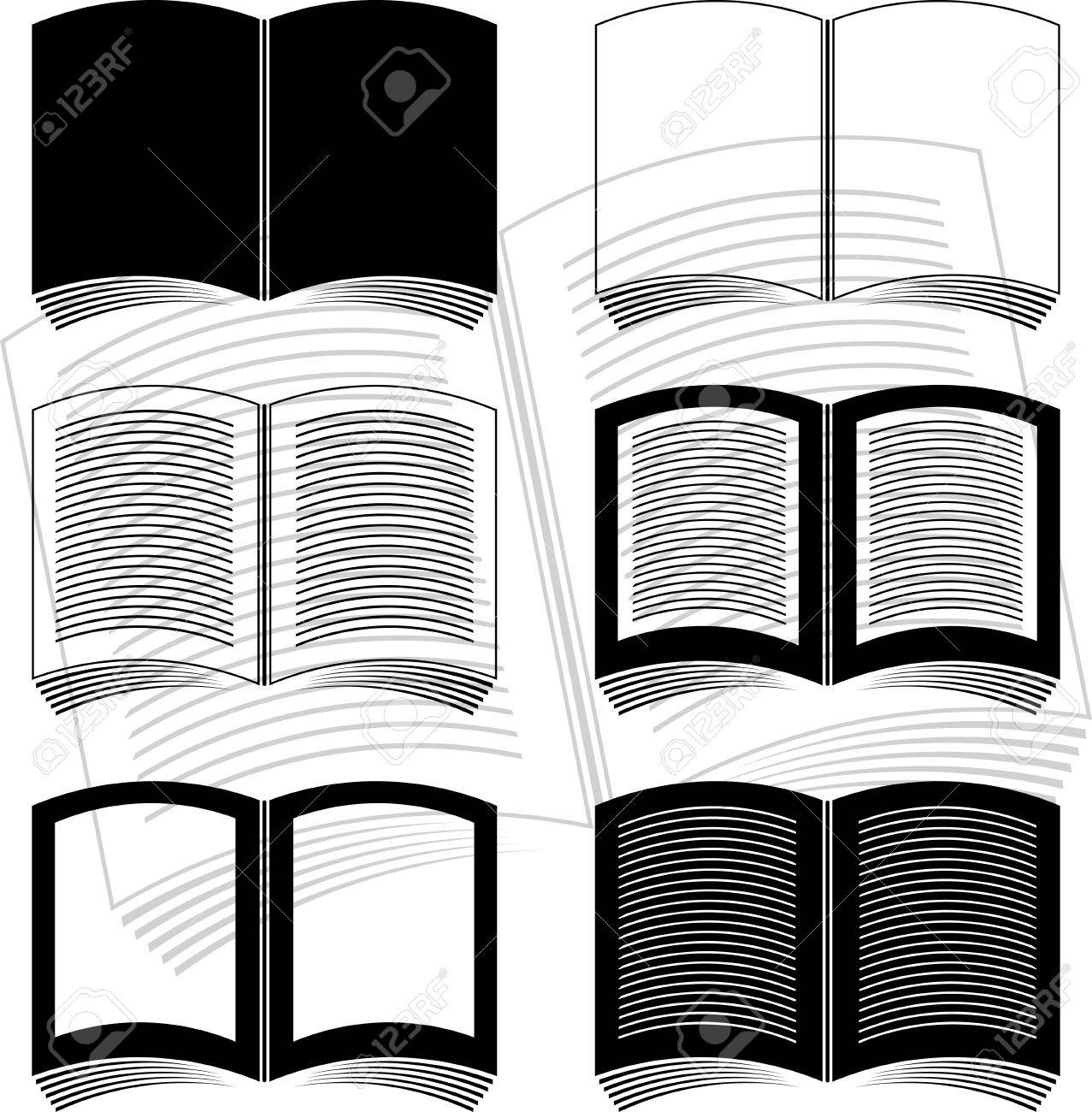 stencils of books. vector illustration Stock Vector - 9453395