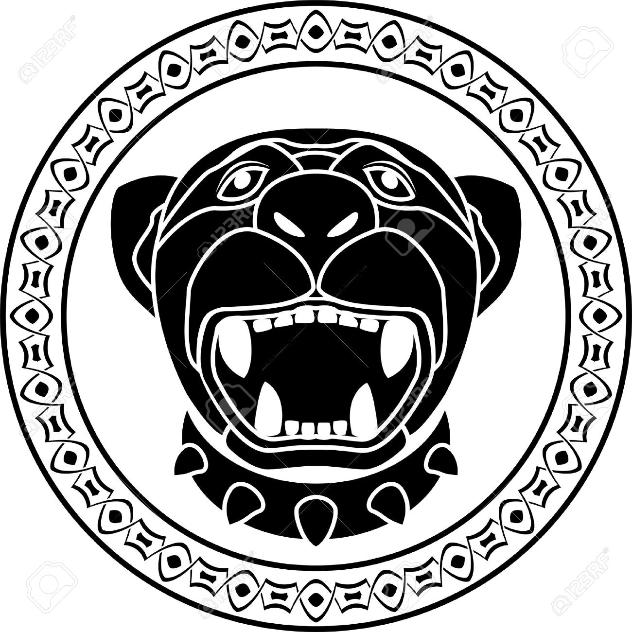 Panther of aztec stencil second variant illustration royalty free panther of aztec stencil second variant illustration stock vector 13794062 biocorpaavc Image collections
