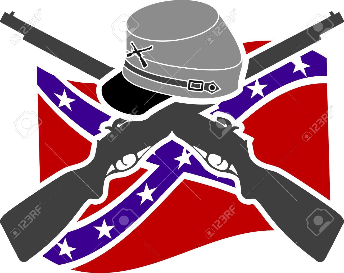 american civil war confederacy stencil royalty free cliparts rh 123rf com clipart confederate flag Confederate Soldier Drawing