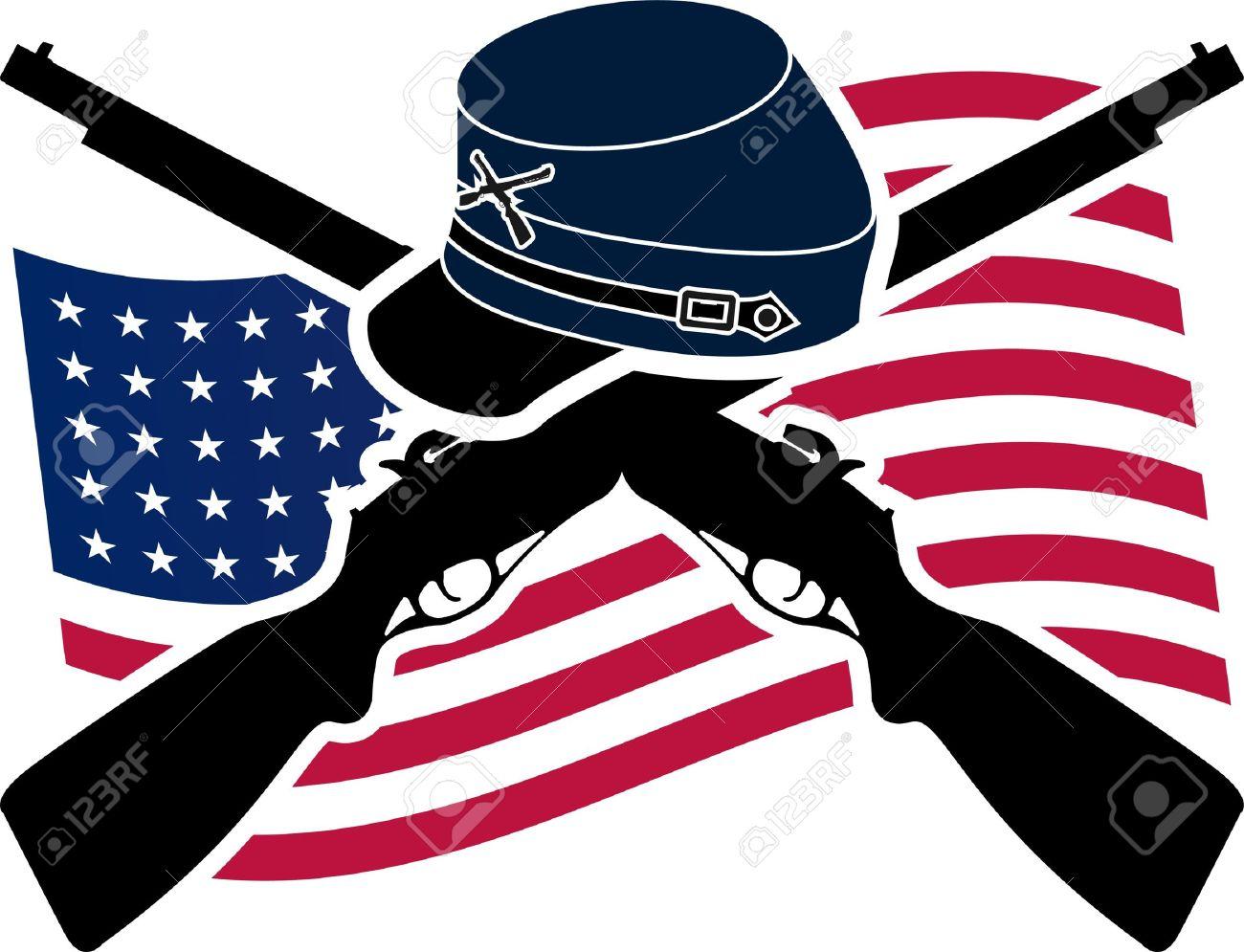 American Civil War  Union  Stencil Stock Vector - 14644125