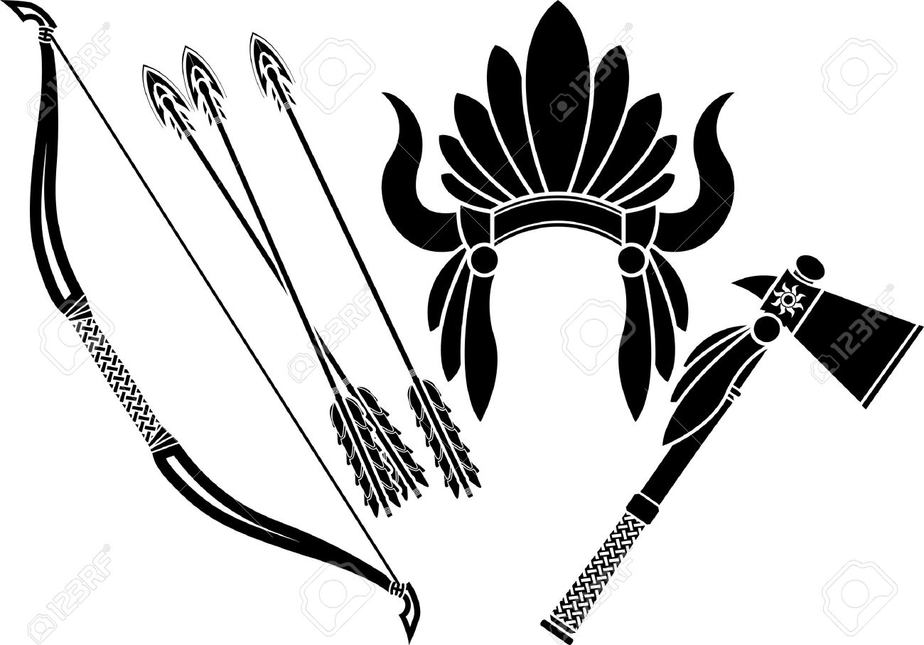 Native Americans Clipart Black And White native american tomahawk