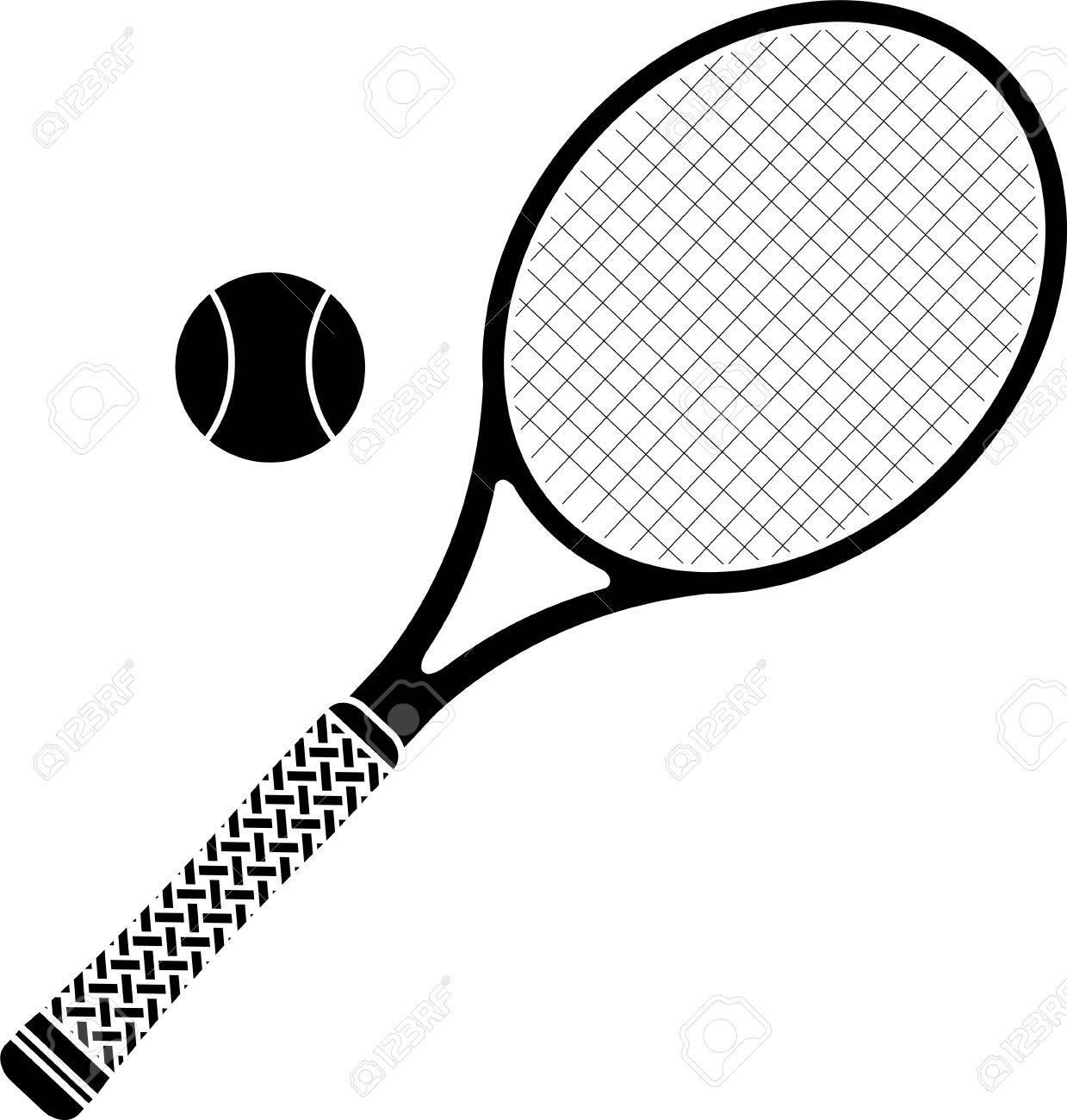 Raqueta De Tenis Plantilla Ilustración Vectorial Ilustraciones ...