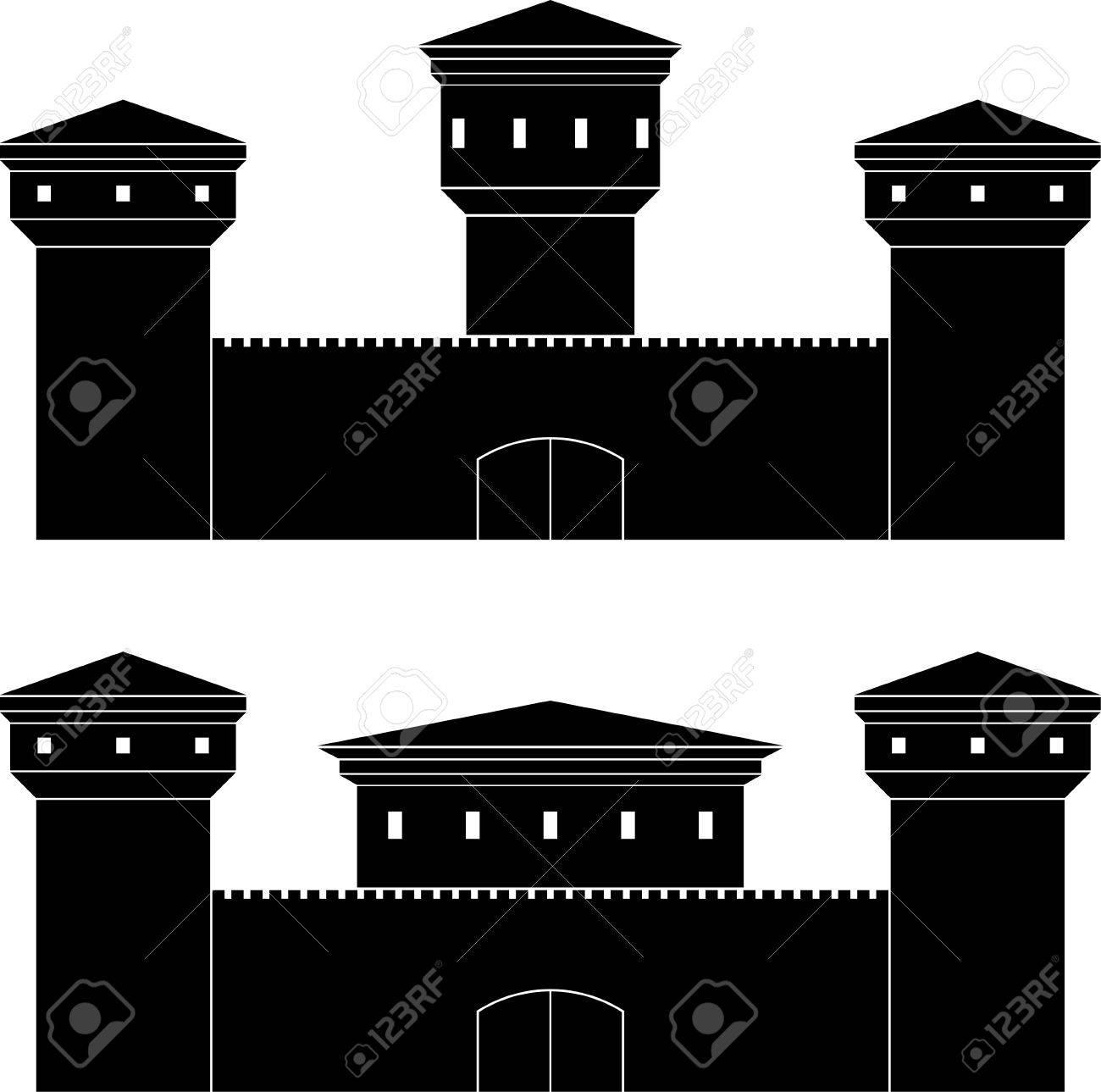Dos Castillos Plantillas Ilustración Vectorial Ilustraciones ...