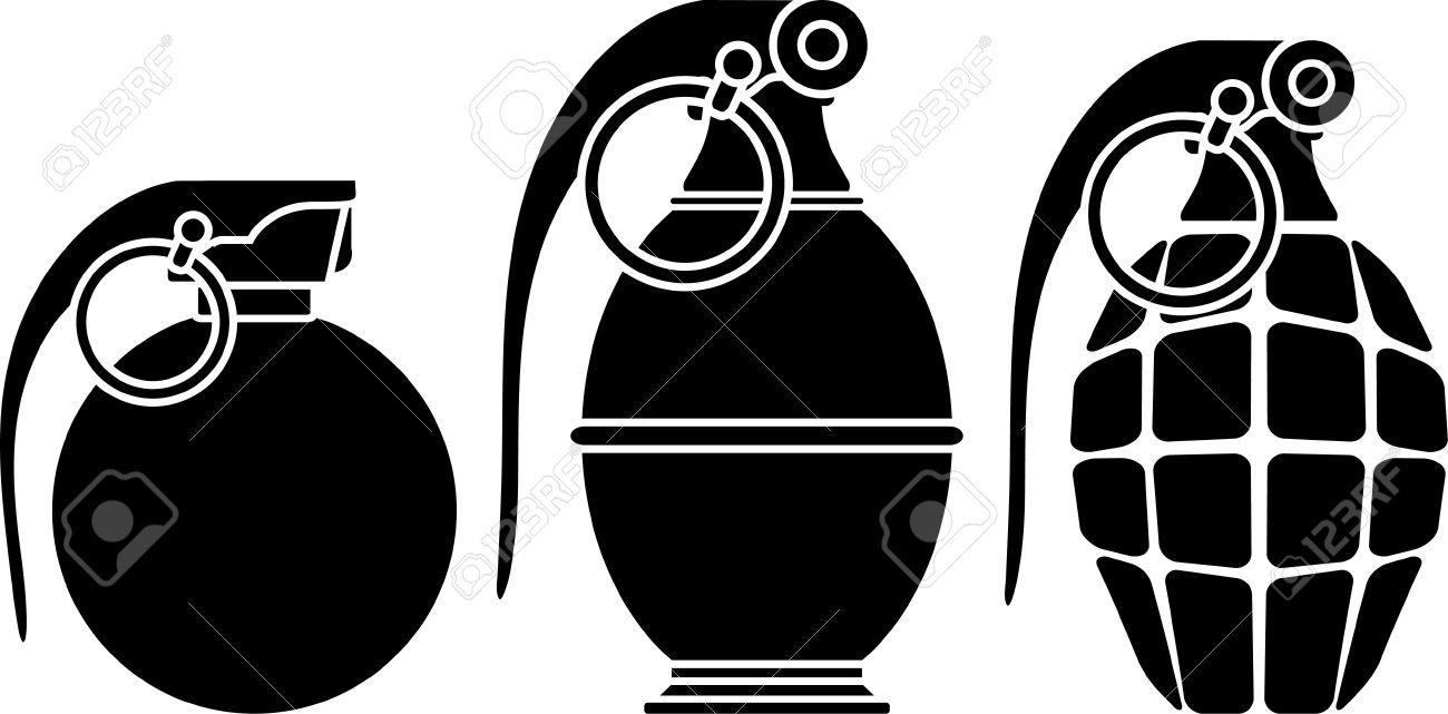 stencils of grenades vector illustration royalty free cliparts rh 123rf com