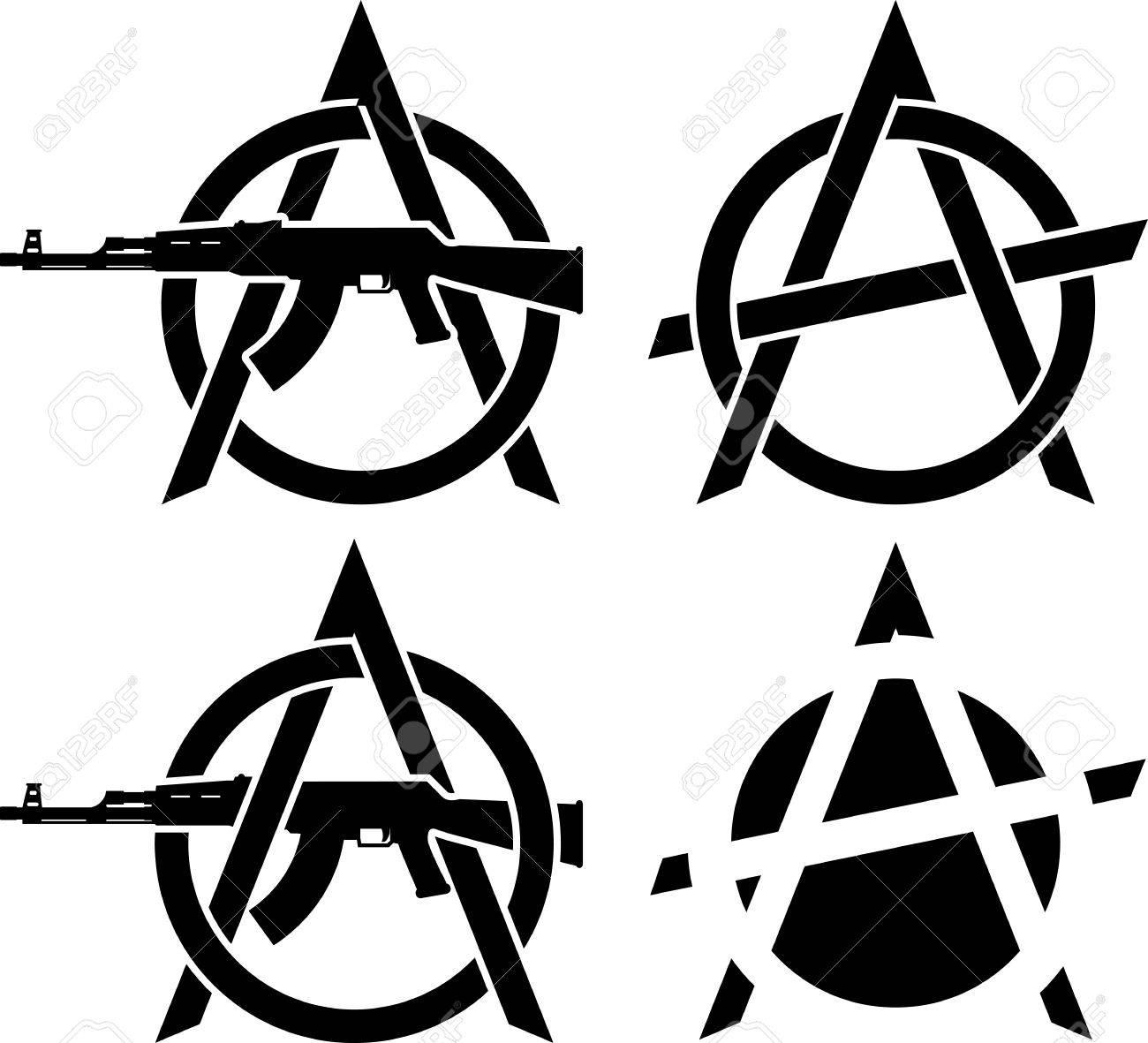 Symbols of anarchy vector illustration royalty free cliparts symbols of anarchy vector illustration stock vector 32631293 buycottarizona
